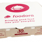 foodora pizza box advertising